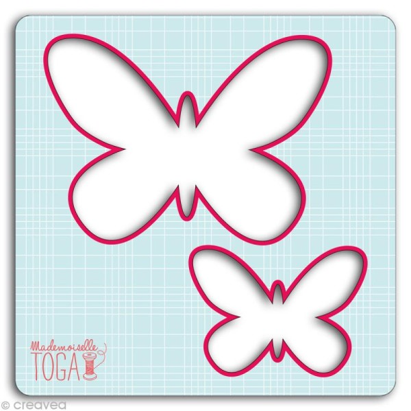 gabarit pour applique papillons 12 5 cm