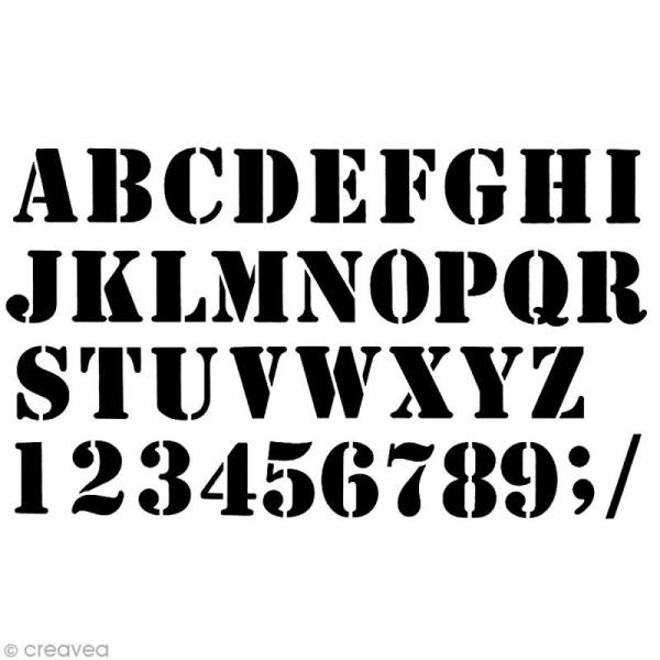 Pochoir Home Deco 42 X 25 Cm Alphabet Industriel Pochoir Alphabet Creavea