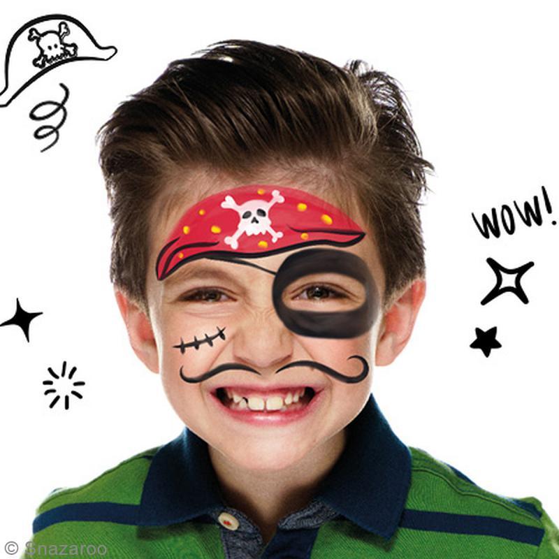 maquillage halloween garcon pirate gallery