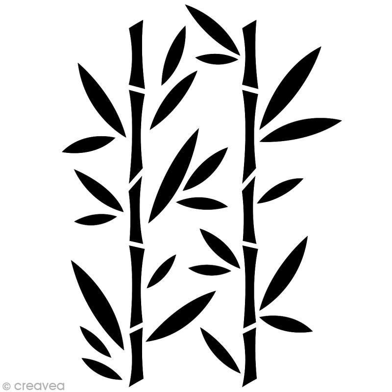pochoir home deco bambou a4 21 x 29 7 cm pochoir mural creavea