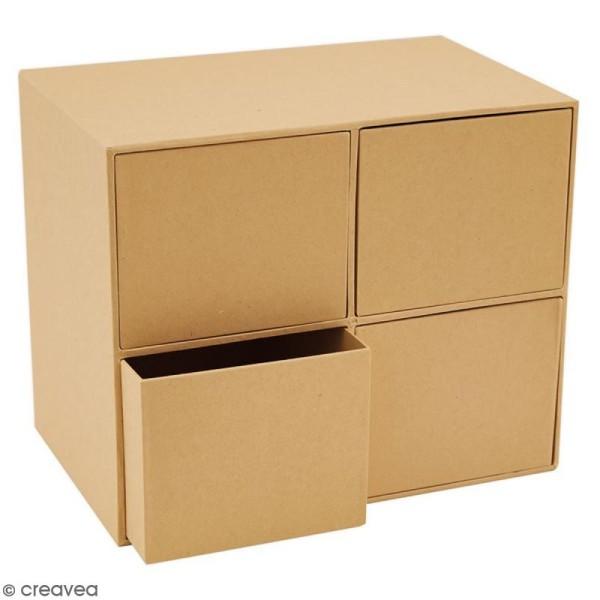 boite cube a tiroirs 4 cases 22 5 x 18 5 cm
