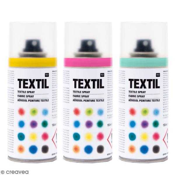 peintures en bombe pour tissus 150 ml photo n 1