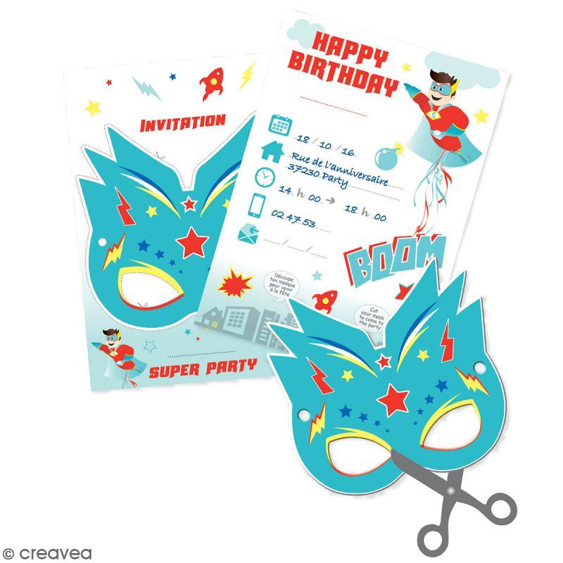 cartes d invitation super heros 6 pcs cartes invitation anniversaire creavea