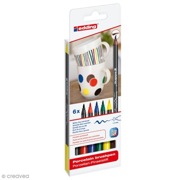 feutres porcelaine edding 4200 coloris standards 6 feutres