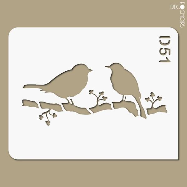 Pochoir Oiseau Pochoir Animaux Creavea