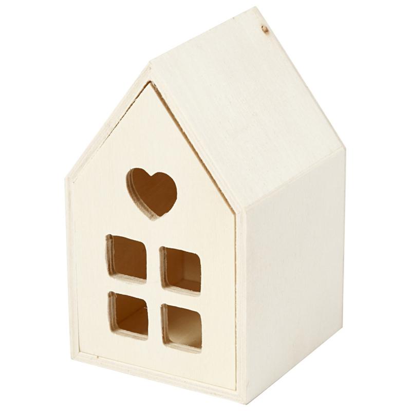 petite maison en bois a decorer 6 7 x 6 7 x 10 8 cm objets divers a decorer creavea