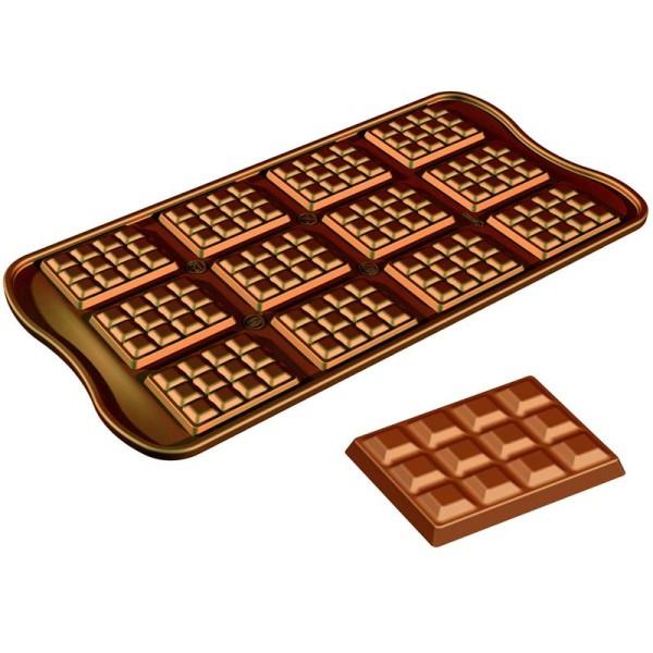moule silicone silikomart chocolat mini tablette