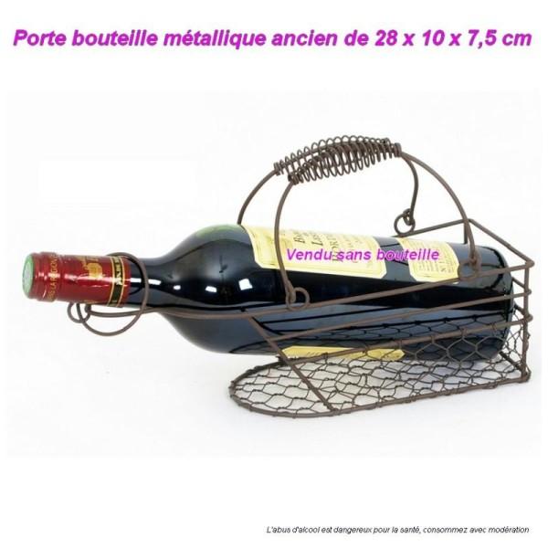 porte bouteille en metal ancien design authentique range bouteille rusty 28x10x7 5cm