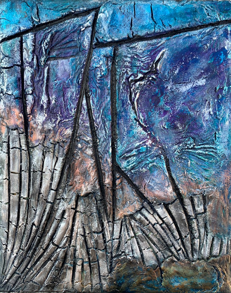 Mixed media materie the reef