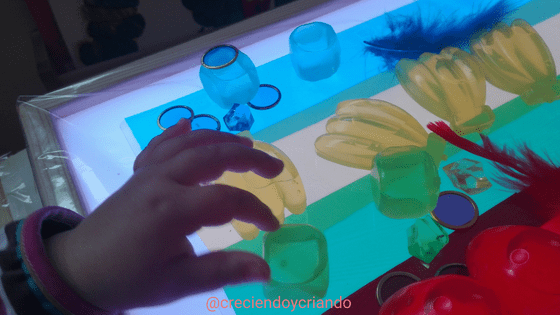 Materiales mesa de luz