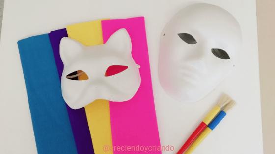 Máscara de Carnaval DIY 1_Creciendo y criando
