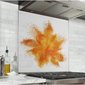 fond de hotte explosion de poudre orange
