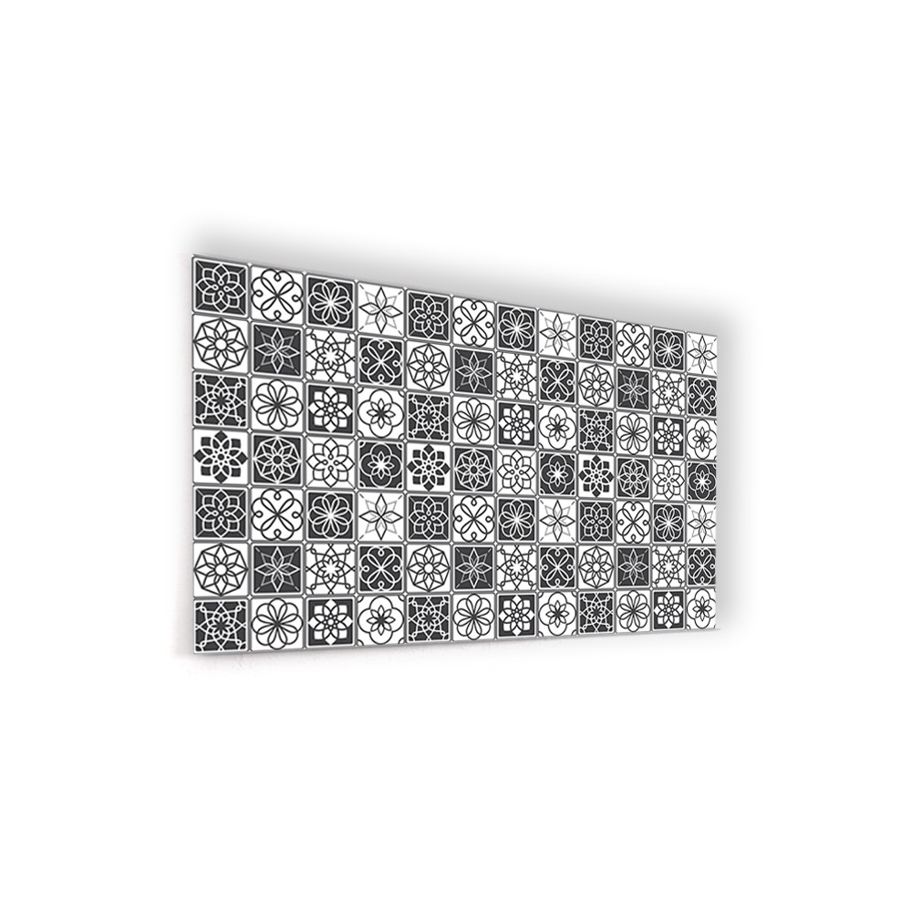 Fond De Hotte Carreaux De Ciment Noir Et Blanc Credence