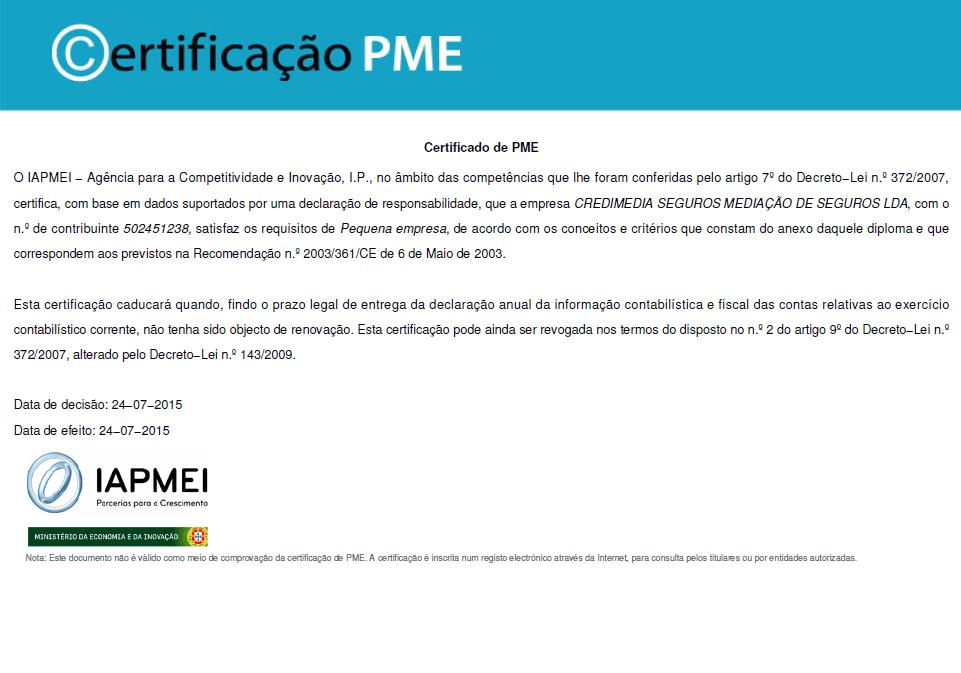 Cerificado.PME