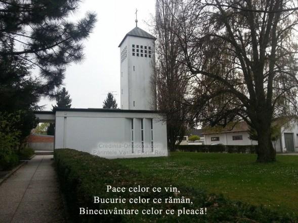 "Rumänisch-Orthodoxe Kirche ""Heiligen Konstantin und Helena"" Straubing - Friedhofskapelle des St. Michael-Friedhofs * Pfarrer Vasile Florin Reut * www.credinta-ortodoxa.com"