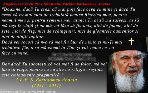 Rugaciunea Inalt Prea Sfintitului Parinte Bartolomeu Anania * www.credinta-ortodoxa.com