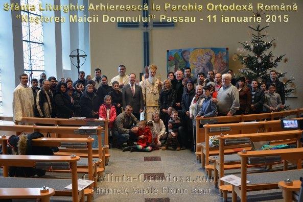 """Binecuvantare Arhiereasca la inceput de an in Parohia Ortodoxa Romana """"Nasterea Maicii Domnului"""" din Passau, orasul celor trei rauri: Dunarea, Inn si Ilz."""