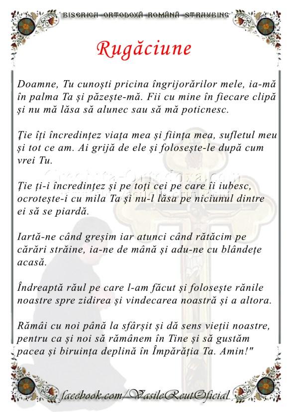 O rugăciune din inimă - Parintele Vasile Florin Reut