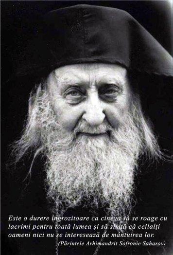 Parintele Arhimandrit Sofronie Saharov