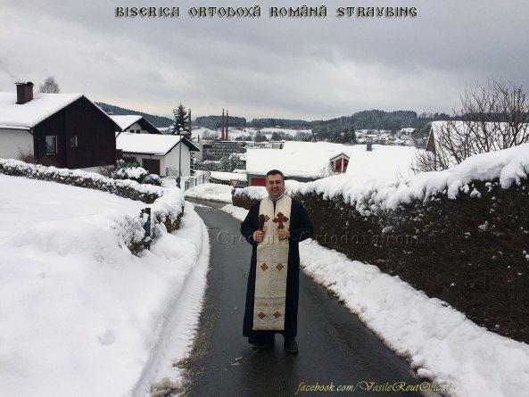 Părintele Vasile Florin Reuţ în vizită pastorală la credincioşii parohiei Straubing