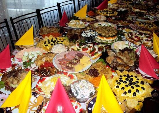 Mâncarea în zilele de sărbătoare