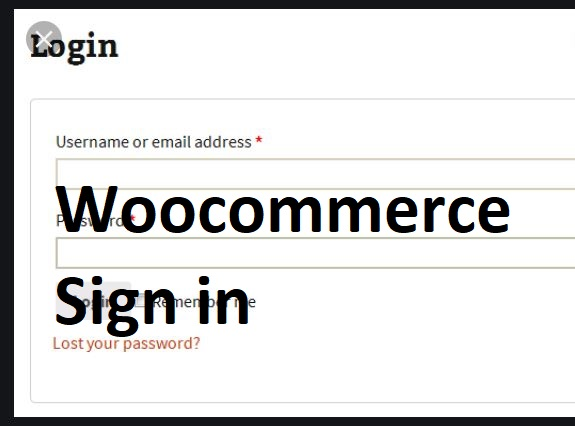 Woocommerce-Sign-in