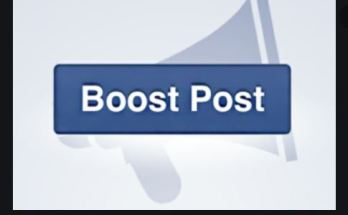 Facebook Boost Post Button | Boost Post On Facebook - Cost