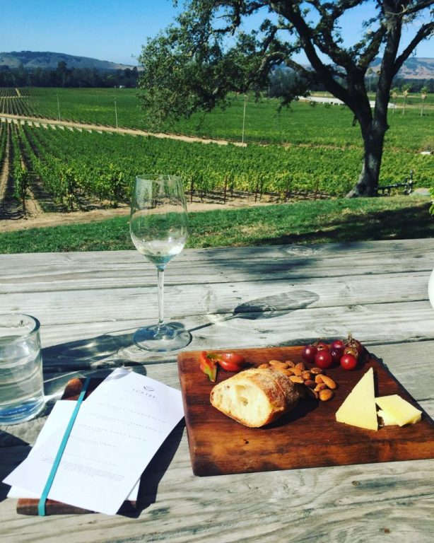 cheese plate and wine tasting in Sonoma
