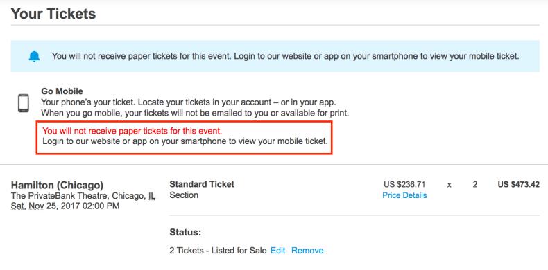 Adventures in Reselling: Tickets on Ticketmaster - Cardpe Diem