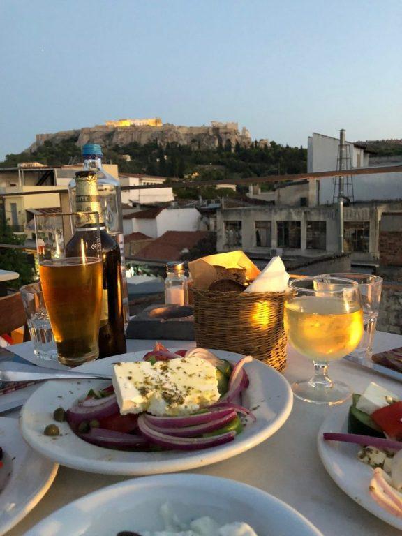 Dinner at Cafe Avissinia in Athens