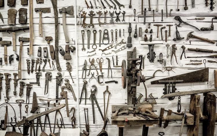 wall of tools