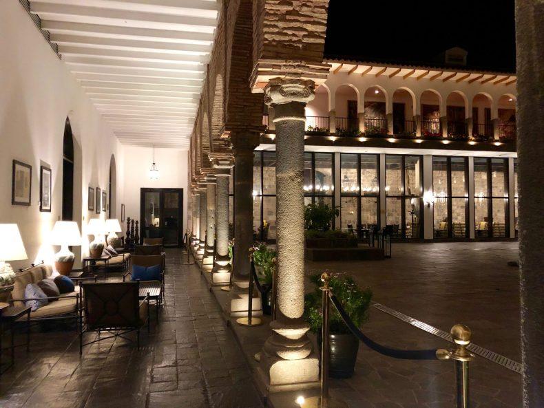 Courtyard at the JW Marriott Cusco