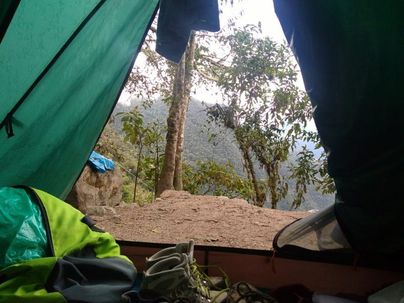 Tent on the Inca Trail