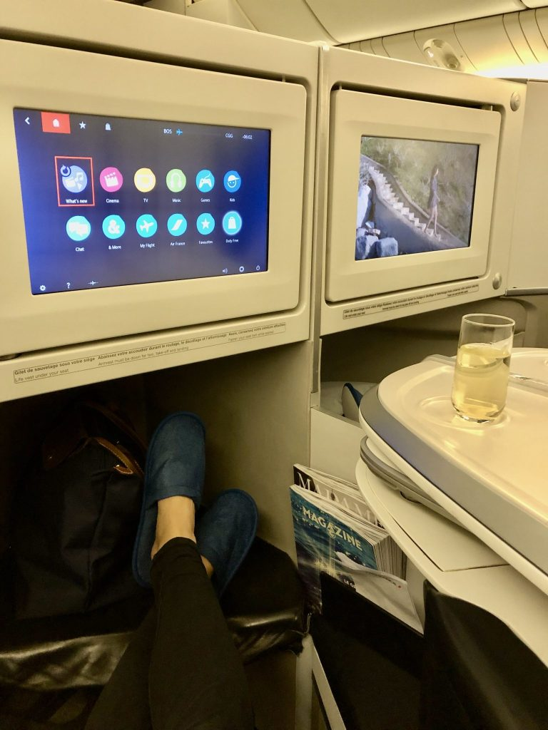 Air France 777 Business Class In Flight Entertainment