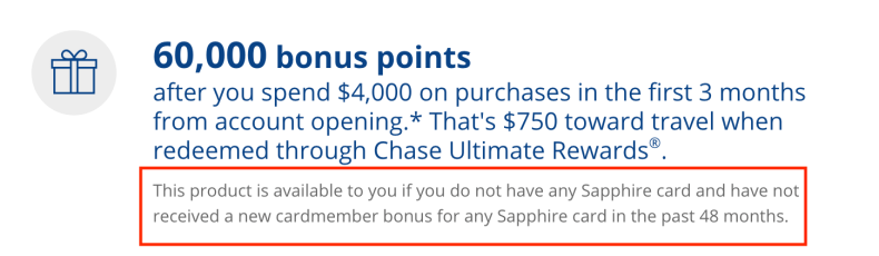 Chase Sapphire Restriction