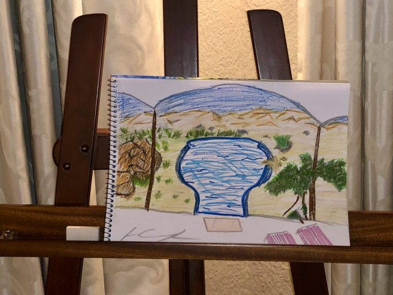 Al Maha Bedouin Suite Easel