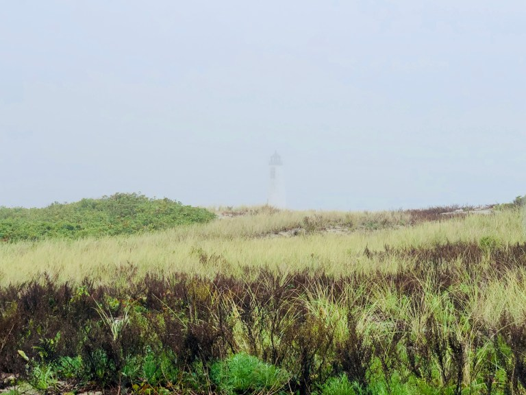Great Point Lighthouse in fog
