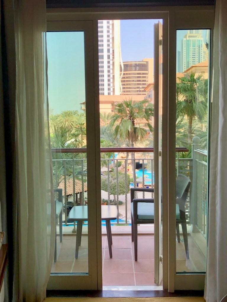 Ritz-Carlton Dubai Deluxe Room Balcony