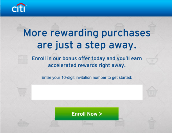 Citibank Credit Card Specail Offers