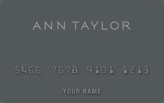 Ann Taylor Credit Card