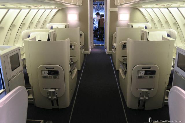 British Airways Business Class 747 Upper Deck
