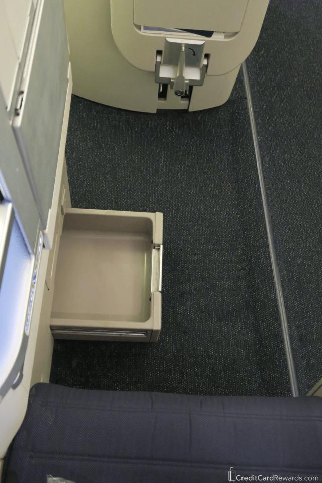 British Airways Business Class Storage