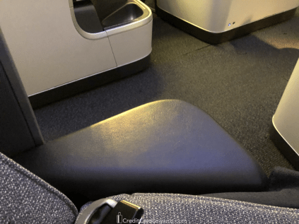 Air Canada Business Class Armrest in Takeoff Position