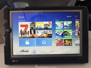 Alaska Airlines Premium Class In-Flight Entertainment