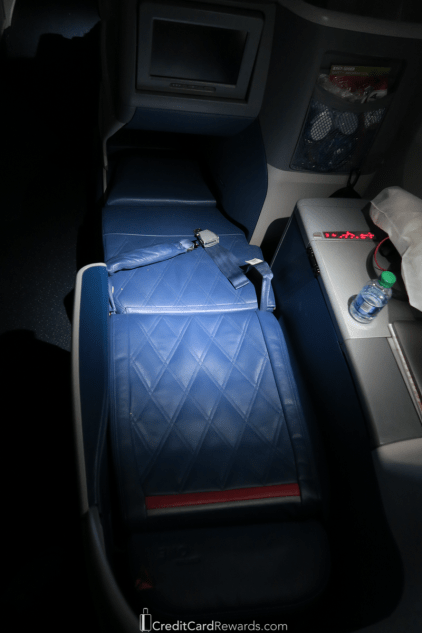 Delta One 767 Business Class Bed