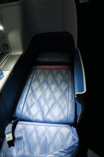Delta One 767 Business Class Seat in Bed Mode