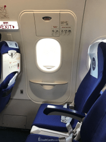 IndiGo Airlines seat 13F - missing an armrest like most exit row window seats