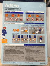 IndiGo Airlines A320 safety card