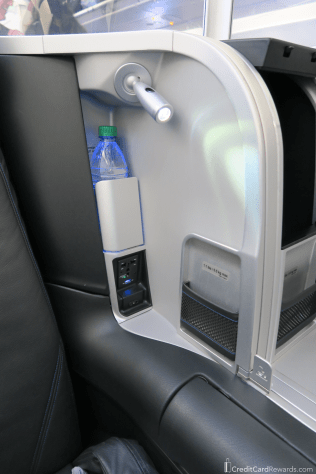 JetBlue Mint Review Phone and Water Storage