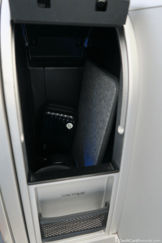 JetBlue Mint Suite Storage Compartment